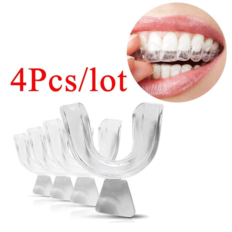 桃ポーンはっきりしない4Pcs 食品等級を白くする口の皿の透明なThermoformの成形可能な歯科歯の口の歯