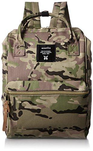 Anello #AT-B0197B mochila pequeña con bolsillos laterales camuflaje kahki
