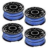 WENTS Filo Decespugliatore Black+Decker A6441X3-XJ Set 4 Rocchetti Filo Nylon Reflex, 3 x 6 m, 1.5 mm Set di Bobine di Filo per sfoltirami