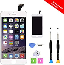 Premium Screen Replacement Compatible with iPhone 6 Plus 5.5 inch Full Assembly -LCD Touch Digitizer Display Glass Assembly with Tools, Fit Compatible with iPhone 6 Plus (White)