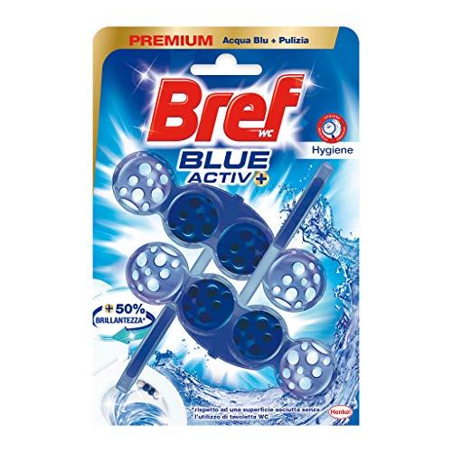 Bref Bref WC Blue Activ+, Detergente Profumatore WC in Pastiglie Igienizzante Bagno, Pulito, Fresco, Duopacco - 100 g