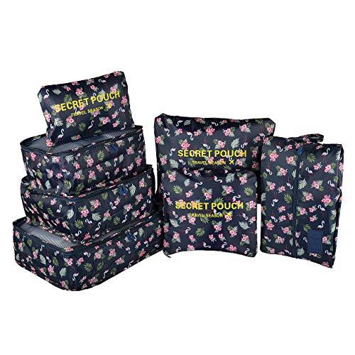 Maomaoyu, organizer da viaggio per bagagli, valigia, cubi traspiranti, leggeri, colori disponibili Flamingo