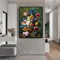 ポスターとプリントキャンバスアート絵画バレンタインデー北欧の壁の写真リビングルームの壁の装飾のための古典的なバラ(40x60cm)フレームなし