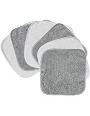 Polyte - Premium microvezel fleece doek om makeup te verwijderen en uw gezicht te reinigen - hypoallergeen en chemicaliënvrij - 6-pack - 20 x 20 cm