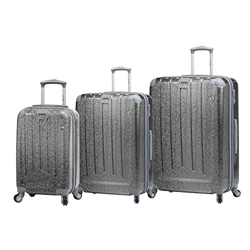 Check Out This Mia Toro Italy Particella Hardside Spinner Luggage 3 Piece Set, Silver, 3PC
