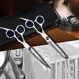 理髪はさみセット 、ヘアカットはさみはさみ理髪散髪キット理髪シャープはさみヘアサロンツール日本ステンレスSt
