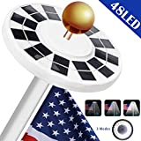 BeideLt Solar Flag Pole Light,48LED Solar Power FlagPole Lights 800Lux Downlight Lighting for 15 to 25 Ft Flag Pole Topper,3 Modes, Auto On/Off Night Light Eco-Friendly and Energy-Saving
