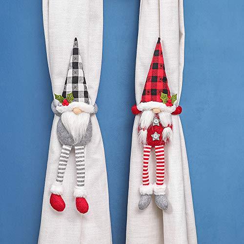Guang Zhou 2 Stück Weihnachtsvorhang-Raffhalter Cartoon-Puppen Vorhang Krawatten Vorhänge Seil Vorhang Raffhalter für Weihnachten Heimdekoration