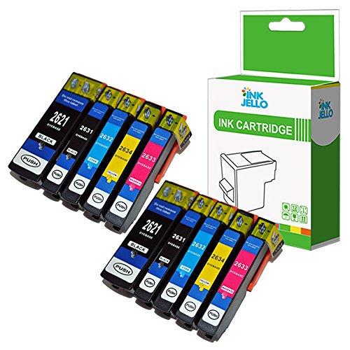 InkJello Compatibile Inchiostro Cartuccia Sostituzione Per Epson XP510 XP520 XP600 XP605 XP610 XP615 XP620 XP625 XP700 XP710 XP720 XP800 XP810 XP820 26XL (Nero/Foto-Nero/Ciano/Magenta/Giallo, 10-Pack)