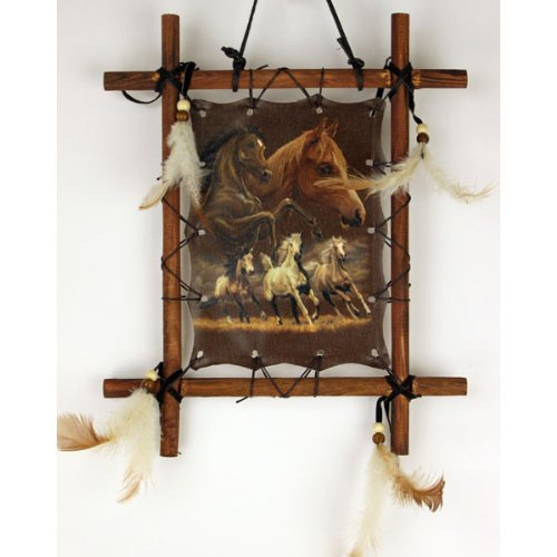 OBI Framed Indian Picture Native American Art 9 X 11 inch (Including Frame) Reproduction … (Horse)
