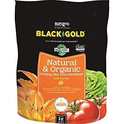Black Gold 1302040 8-Quart All Organic Potting Soil