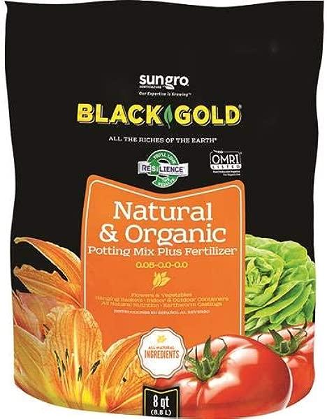 Black Gold 1302040 8 Quart All Organic Potting Soil
