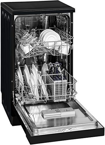 Exquisit Geschirrspüler GSP 3309-7 sw | Standgerät, Unterbaugerät | 9 Maßgedecke | Schwarz
