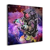 MARTOO ART Fantasy Space Galaxy Planet Painted Framed Oil Paintings Printed On Canvas Wall Pictures Modern Artwork Hanging for Living Room