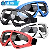 POKONBOY 4 Pack Protective Goggles Safety Glasses Eyewear Compatible with Nerf Guns for Kids Teens Game Battle (4 Colors)