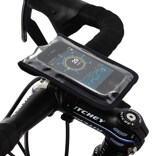 SATECHI Funda Delgada Bici con Soporte para iPhone 5S, 5C, 5, 4S, 4, 3GS, 3G, BlackBerry Torch, HTC EVO, HTC Inspire 4G, HTC Sensation, Droid X, Droid Incredible, Droid 2, Droid 3, Samsung EPIC, Galaxy S2, S3