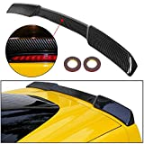 ECOTRIC Rear Trunk Lid Wing Spoiler Compatible with 2005-2013 Chevrolet Corvette C6 All Models   ZR1 H Style End Flushmount with Hardware Included (ABS Plastic -Carbon Fiber Painted)