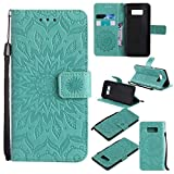 KKEIKO Galaxy S8 Case, Galaxy S8 Flip Leather Case [with Free Tempered Glass Screen Protector], Shockproof...