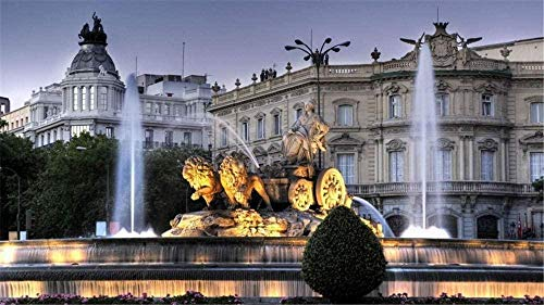 HJHJHJ Puzzle 3000 Piezas Fuente Cibeles en Madrid Palacio de los Leones Rompecabezas clásico Kit de Bricolaje Juguetes de Madera Decoración del hogar Rompecabezas de Navidad