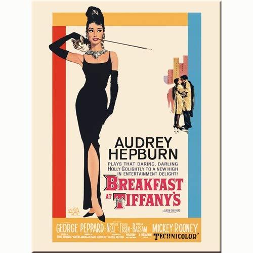 Nostalgic-Art Audrey Hepburn Desayuno con Diamantes Cartel clásico imán de Nevera