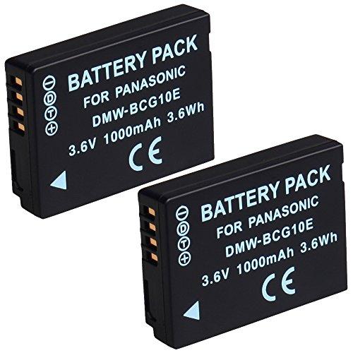 DSTE/® 2x DMW-BLE9 Li-ion Bater/ía para Panasonic Lumix DMC-GF3 DMC-GF5 DMC-GF6 DMC-GX7 DMC-LX100 C/ámara come DMW-BLE9E DMW-BLE9PP