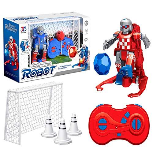 mysticall Juguete de Robot de fútbol con Control Remoto para niños, Juego de Juguete de fútbol con Control Remoto inalámbrico, con Robots, Objetivos de fútbol, balón de fútbol, tapete de fútbol