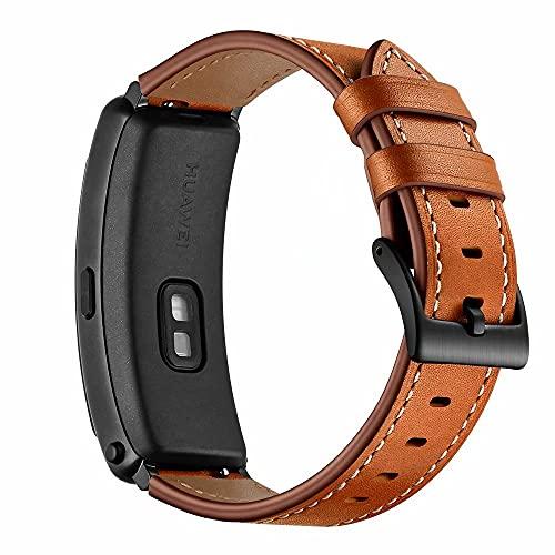 AISPORTS Correa de reloj de liberación rápida de 16 mm, compatible con Fossil Q Accomplice/Neel Correa de cuero para mujeres y hombres, correa de repuesto para Huawei Talkband B3/B6