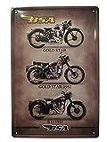 Chapa Vintage [ Motos Clásicas BSA ]. Placa decorativa metálica de pared de Motocicletas para Garaje, Taller, Negocio, Oficina | 20x30 cm.