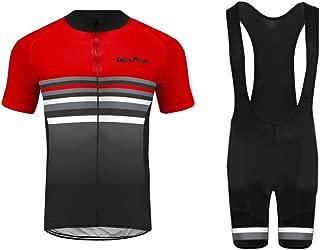 Uglyfrog Mens Short Sleeves Team Cycling Jersey Jacket Bicycle Bike Shirt Cycling Padded Bib Shorts Set