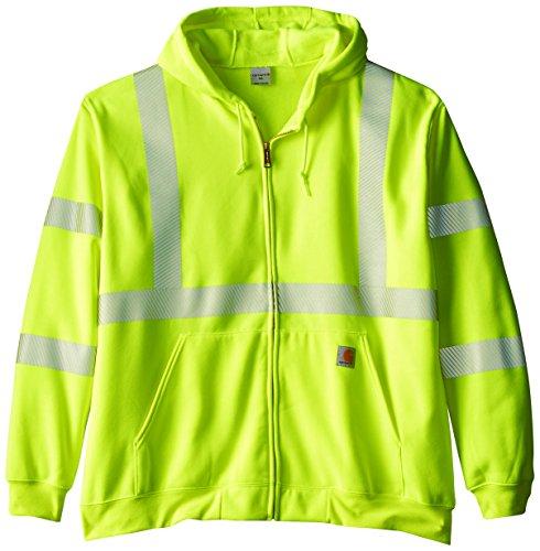 Carhartt Men's Big & Tall High Visibility Class 3 Sweatshirt,Brite Lime,XXX-Large Tall