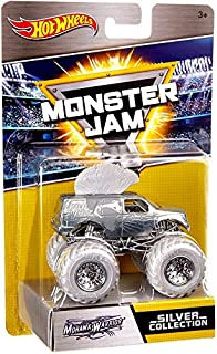 Hot Wheels Monster Jam 25th Anniversary Collection Mohawk Warrior Die-Cast Vehicle, Silver