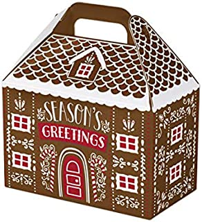 Holiday Gable Box - 6 Count - Iced Gingerbread House