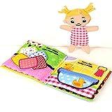 Libro de tela de tacto y tacto ultra suave para bebés, Libro de sonidos 3D para bebés y niños pequeños, Aprender a libro sensorial, Libro para niños pequeños