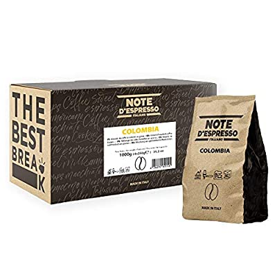 Note d'Espresso Colombia Single Origin Coffee Beans 250g x 4 pack
