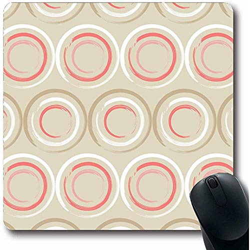 Mousepads Kladblok Abstract Polka Dot Tekenen Tapijt Door Blouse Boho Border Brush Ontwerp Oblong Vorm 18X22Cm Antislip Gaming Mouse Pad