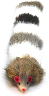 Dat Darn Raccoon Tail Rabbit Fur Cat Toy
