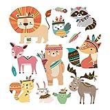 Hergon Bonitos parches de animales para ropa de niños, pegatinas de bricolaje, parche para planchar, parche para bolsa, sombrero, jeans, apliques de decoración, 70#