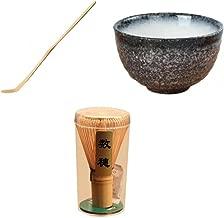 Ogquaton Mango Largo Bamboo Matcha Tea Whisk Powder Whisk Chasen Brush Tool para la preparaci/ón del t/é Matcha Elegante y pr/áctico