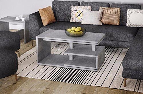 Endo Couchtisch Sana Wohnzimmertisch Funktion Funktionstisch Tisch 100cm Wohnzimmer // Beton-Optik