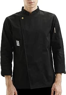 Chef Coat Jacket Works Long Sleeve Single-Breasted Men Black