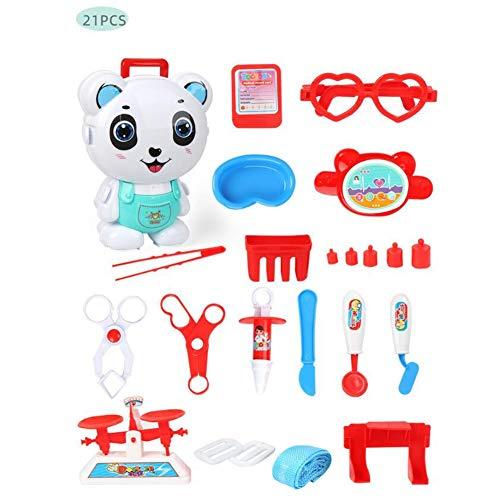 Kinderspielzeug Rollenspiel Spielzeug Set Kinderspiele Spiele Ärzte Medical Case Set Rucksack Pädagogisches Spielzeug Niedliche Make-ups Spielzeug Gourmet Toy Engineer Spielzeug for Kinder Kinder Jung
