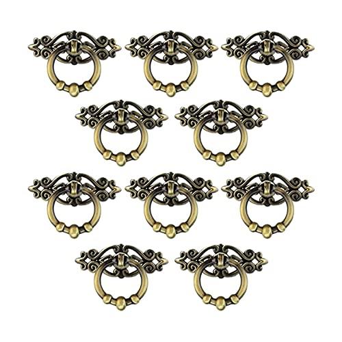 liuchenmaoyi Brosse en Acier Hot 20 Pack Pack Boîtier Armoire Tiroir Tiroir Poignée Armoire Armoire Armoire Bague Bague Tirez des Meubles Outils de récupération. (Color : Black)