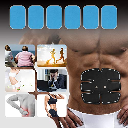 LIHAO 20PCS EMS Replacement Gel Pads for ABS Stimulator Trainer Abdominal Gel Sheets (4X6CM)