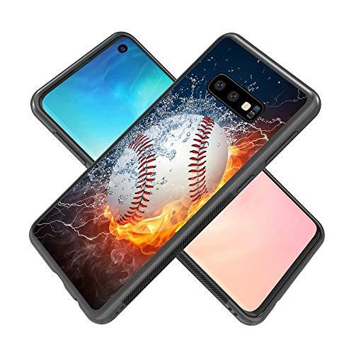 Samsung Galaxy S10e Case Baseball Slim Case Customizable Slim Fit Cover Anti-Scratch Shock Proof Dust Proof Anti-Finger Print TPU Protection Cover for Samsung Galaxy S10e