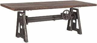 Burleson Home furnishings Industrial Steel Crank Adjustable Table