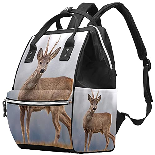 WJJSXKA Mochilas Bolsa de pañales Laptop Notebook Mochila de viaje Senderismo Daypack para Mujeres Hombres - animal Deer