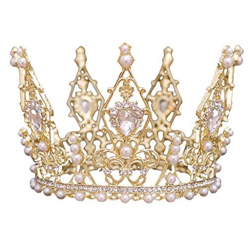 Atezch Tiaras y Coronas para Mujer, Diadema de Princesa de Vidrio con Diamantes de imitación para Boda,…