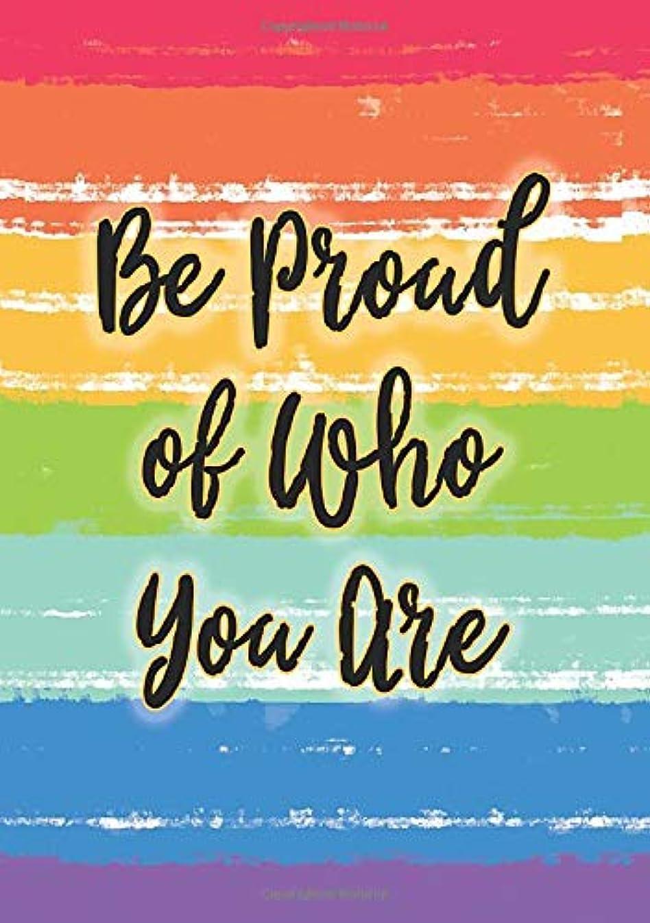 対話アナログ豊富Be Proud of Who You Are Gay Pride Rainbow Journal: Dotted Paper Notebook Diary, Dot Grid Planner, A5, BUJO Journal Organizer, Weekly and Monthly Journal (LGBTQ Notebooks for Equality and Awareness Series)