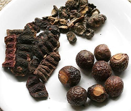 Bestdeal Dry Whole Amla Reetha Shikakai Soapnut Gooseberry Acacia Concinna (200gm Each)