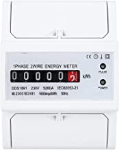 Electric Meter, 4P Rail Energy Meter, Long Service Life Single Phase Industrial Equipment Home Electrical Equipment for Su...